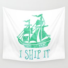 I Ship It - Watercolour Wall Tapestry
