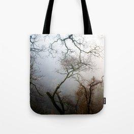 Misty Morning in Scotland Tote Bag