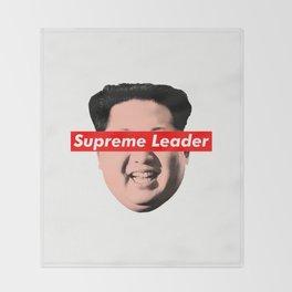supreme leader Throw Blanket
