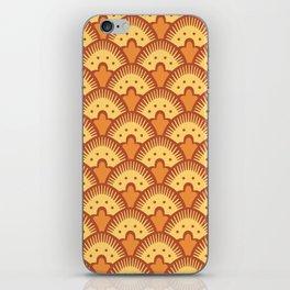 Fan Pattern Brown Yellow and Orange 991 iPhone Skin