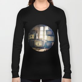 Old televisions in a dusty attic Long Sleeve T-shirt