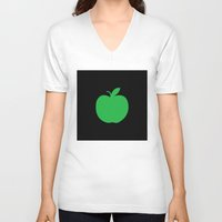 apple V-neck T-shirts featuring Apple by Mr and Mrs Quirynen