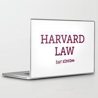 law Laptop & iPad Skins featuring Harvard Law by Trend
