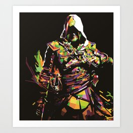 Assassin's Creed In Anomali WPAP Art Print