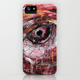 Left red eye iPhone Case