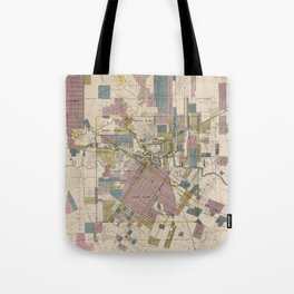 Vintage Map of Houston Texas (1895) Tote Bag