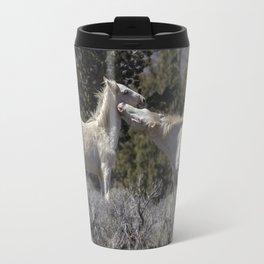 Wild Horses with Playful Spirits No 7 Travel Mug