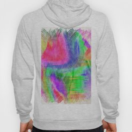 Abstract colorful pink purple hand painted scribble pattern Hoody