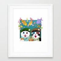 3d Framed Art Prints featuring 3D by Tummeow