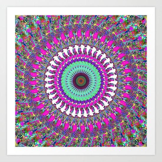 Colorful Mandala of Symmetry Art Print