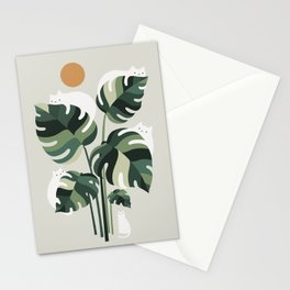 Cat and Plant 11 Stationery Cards