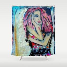 Punk Rock Chic Shower Curtain