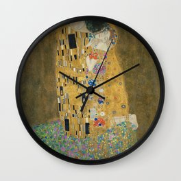 Gustav Klimt Art Print - The Kiss - Klimt Reproduction Wall Clock