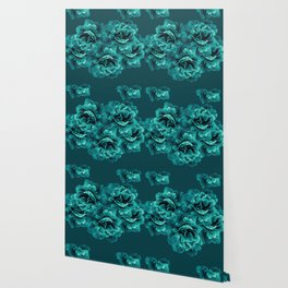 Turquoise Peony Flower Bouquet #1 #floral #decor #art #society6 Wallpaper