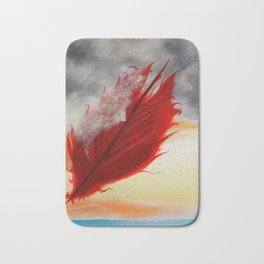 A RED FEATHER BLOWS NORTH Bath Mat