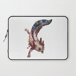 Cherry Blossom Axolotl Watercolor Artwork Laptop Sleeve