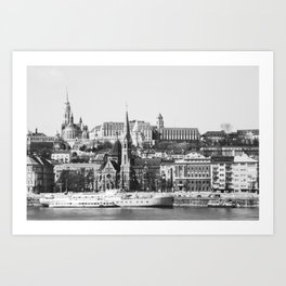 A Nice Day in Budapest Art Print