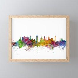 Glasgow Scotland Skyline Cityscape Framed Mini Art Print