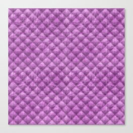 Quilted Purple Velvety Pattern Canvas Print