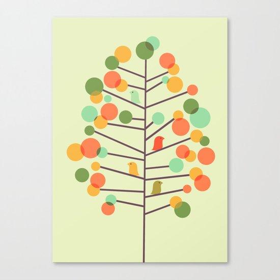 Happy Tree - Tweet Tweet Canvas Print