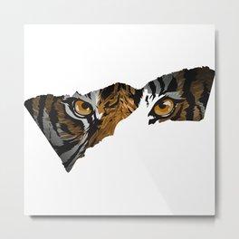 Exotic Tiger Eyes Metal Print