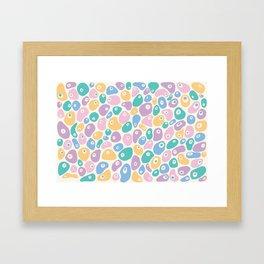 Blobby Pastel Framed Art Print
