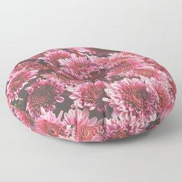 Chrysanthemum Autumn Flowers Photography Floor Pillow