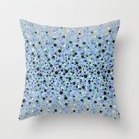 bubble Throw Pillows featuring bubble by Marta Olga Klara