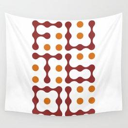 Futbol Metaballs Typography (Red Orange) Wall Tapestry