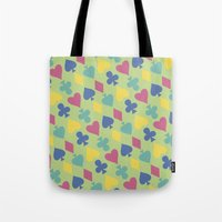 suits Tote Bags featuring Suits by M. Noelle Studios