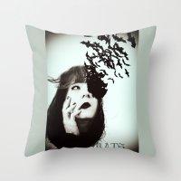 bats Throw Pillows featuring Bats by Nuria Mrtz. FotoArt
