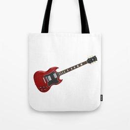 Red Electric Guitar Tote Bag