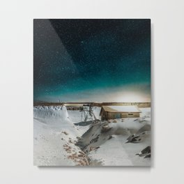 Bright Nights in The Snow Metal Print