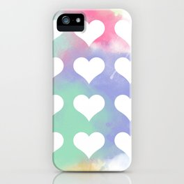 Painted Hearts iPhone Case