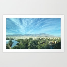 Palm Springs Mountains-California Desert Art Print