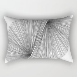Black and White Mid Century Modern Geometric Abstract Rectangular Pillow