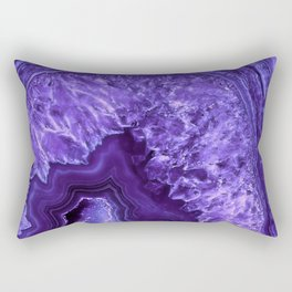 Ultra Violet Agate Mineral Gemstone Rectangular Pillow
