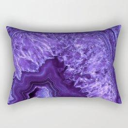 Ultra Violet Agate Mineral Gemstone Rectangular Pillow