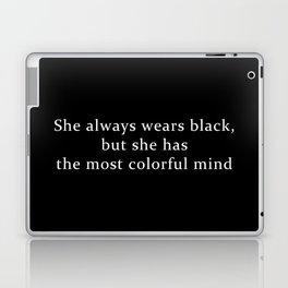 She Wears Black Laptop & iPad Skin