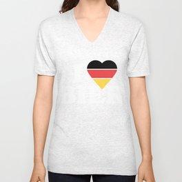 I LOVE BIER German Flag Unisex V-Neck