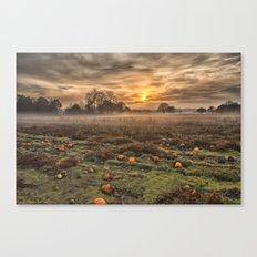 Pumpkins At Dusk Canvas Print