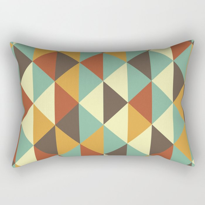 Triangle stencil Rectangular Pillow