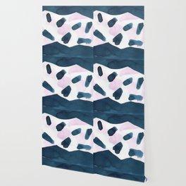 Indigo and pink abstract 101 Wallpaper