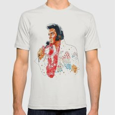 Elvis presley Mens Fitted Tee Silver SMALL