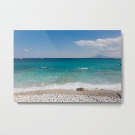 Mount Vesuvius seen from Capri Beach Metal Print