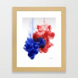 Patriotic Ink Drop Framed Art Print