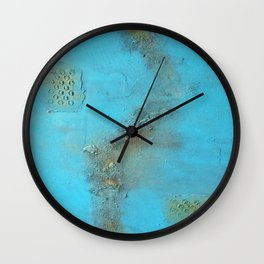 Earth. Texture. Blue. Jodilynpaintings. Brown. Abstract. Earths Crust. Wall Clock