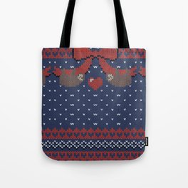 A Lazy Winter Sweater Tote Bag