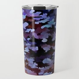 Foliage Abstract In Blue and Lilac Tones Travel Mug