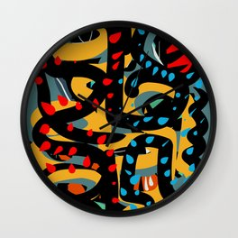 Energy Flow Abstract Art Life Wall Clock
